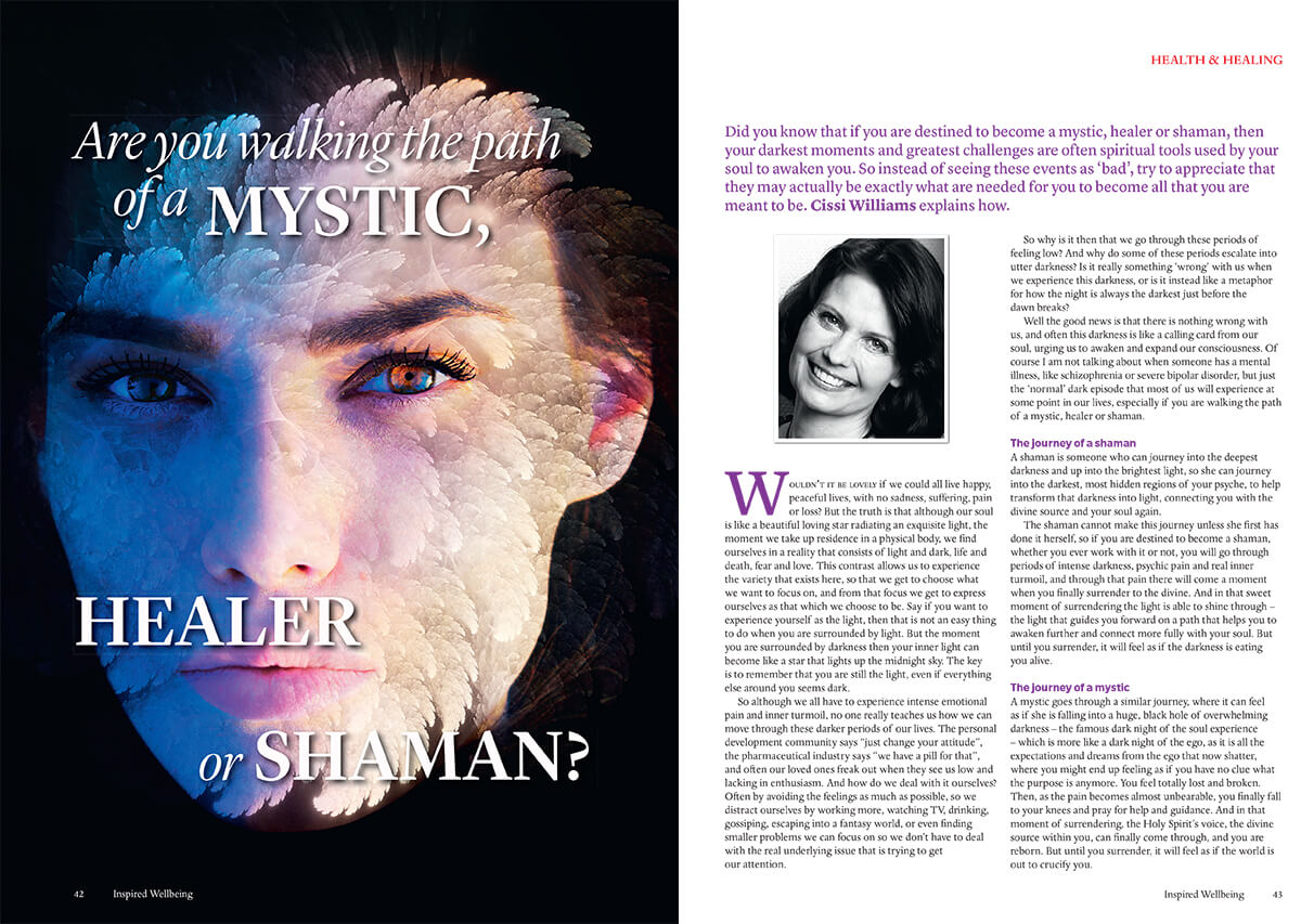 Are you walking the path of a mystic, healer or shaman? Cissi Williams